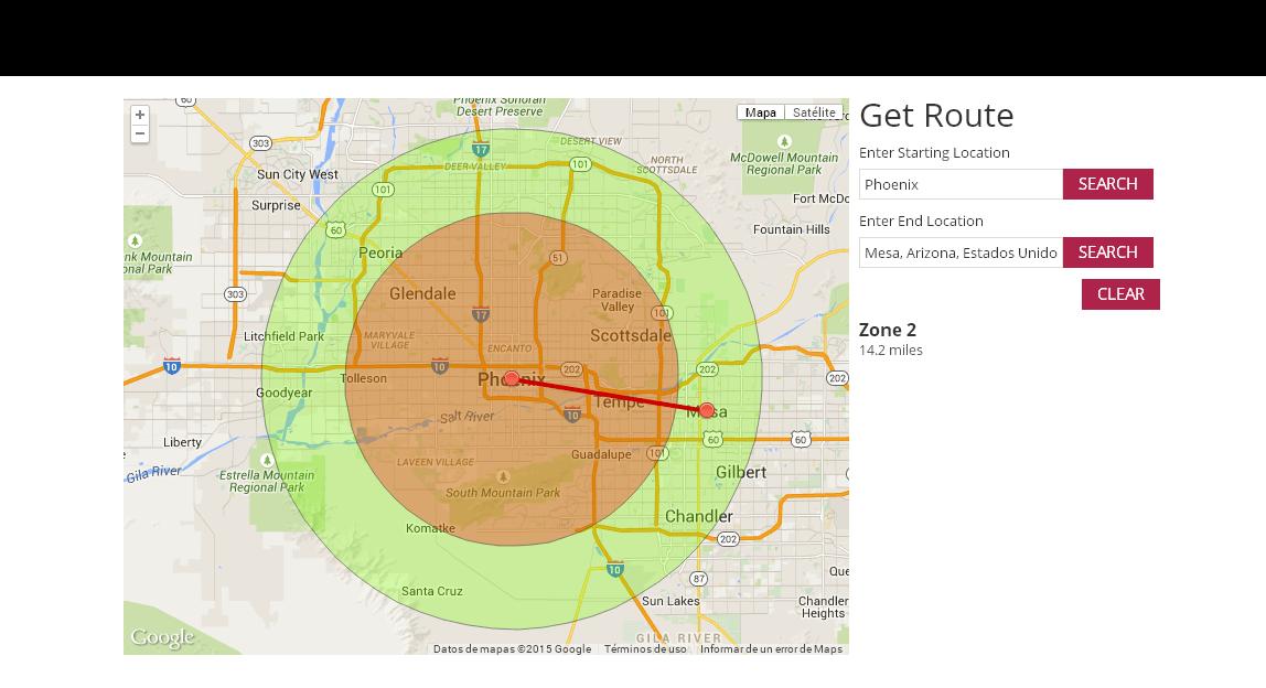 Circle Territories on Google Map We create